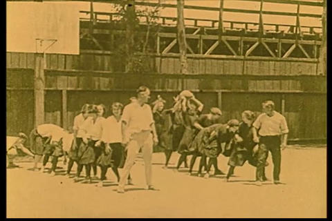 Playground games in 1928 Footage