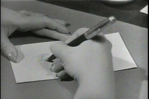 People write letters poorly in the 1950s Live Action