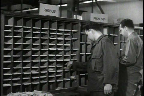 The U.S. Army Postal Service delivers the mail to  Footage