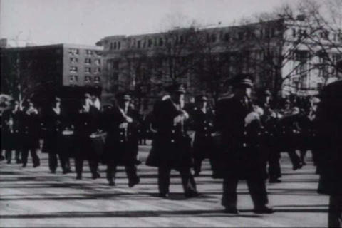 The U.S. Army band lends color and dignity to a Jo Footage