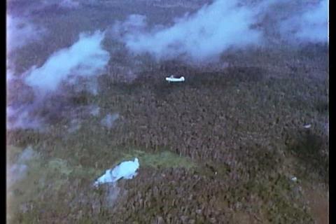 Jets bomb the Vietnam jungle Footage