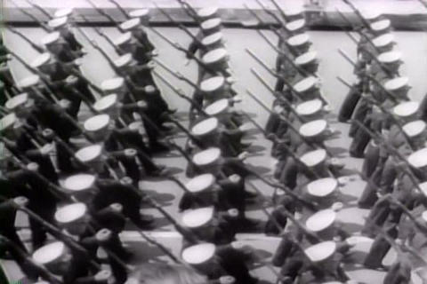 A huge and magnificent military parade in New York Footage
