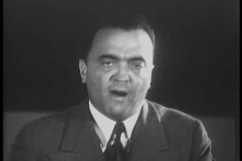 J. Edgar Hoover, chief of the Federal Bureau of In Live Action