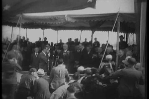 President Roosevelt speech warns of a steadily-inc Footage