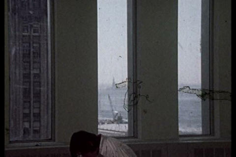 Silent footage of the building of the World Trade  Live Action