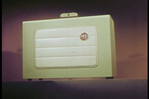 The Wonders Of The RCA Film Projector Are Introduc stock footage