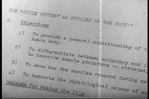 This 1950s film explains how best to make films fo Footage