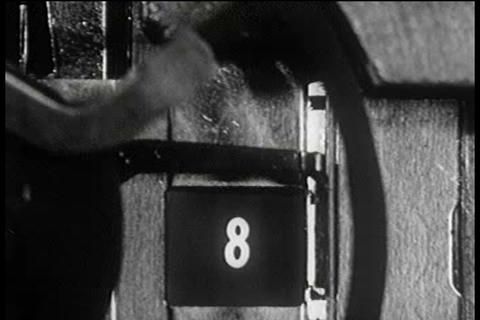 A 1940s film explains how motion pictures move and Footage