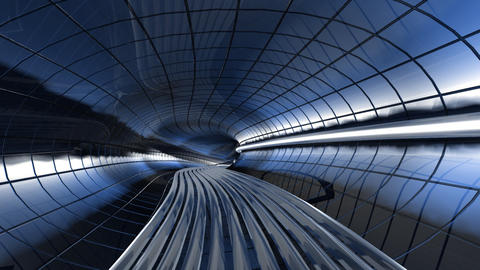 Tunnel SpaceShip Stock Video Footage
