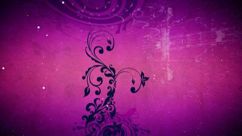 Vector flower 5 magenta loop Animation