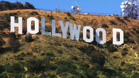 Hollywood Sign, Close Up Stock Video Footage