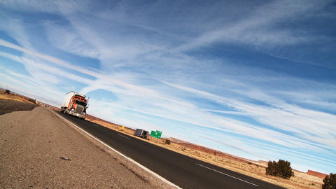 Interstate highway Semi Truck 01 Stock Video Footage