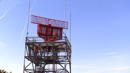 Airport Radar Tower Stock Video Footage
