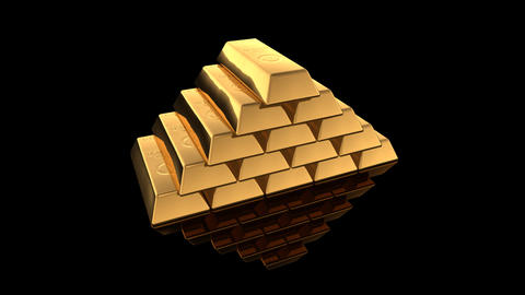 Gold Bar D Stock Video Footage