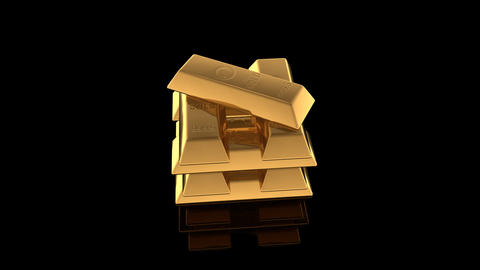 Gold Bar E Stock Video Footage