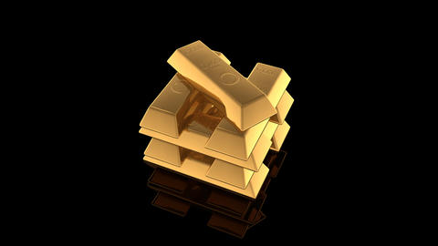 Gold Bar E Stock Video Footage