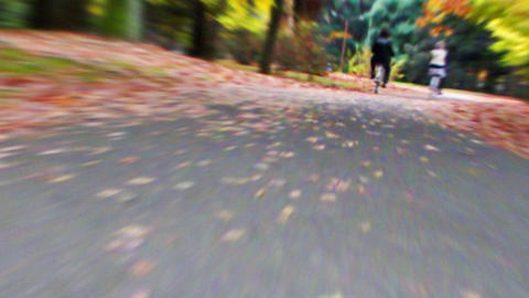 Cycling HD 02 mov It runs ..ground it close Stock Video Footage