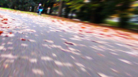 Cycling HD 02 mov It runs ..ground it close 動画素材, ムービー映像素材