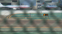 planes at airport Stock Video Footage