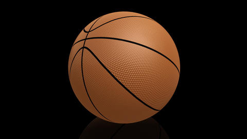 Bouncing Basketball HD Stock Video Footage