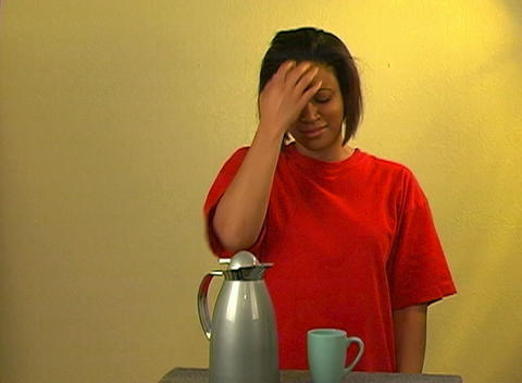 Lovely Woman Pours Morning Coffee Stock Video Footage