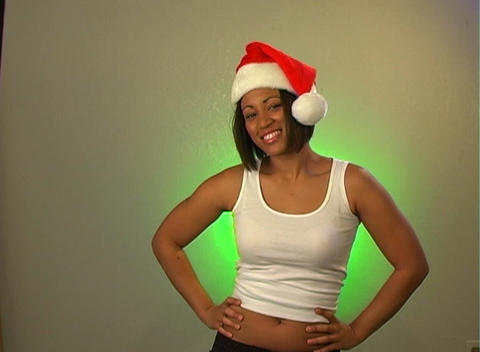 Sexy Santa's Helper (2) Stock Video Footage