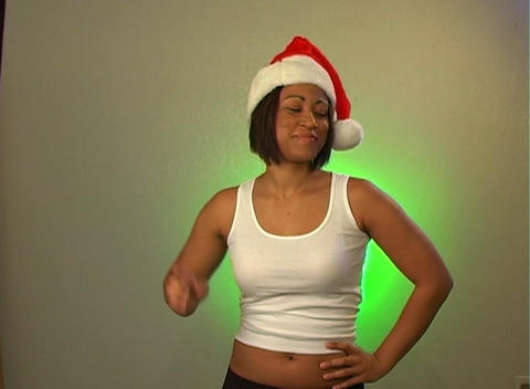 Sexy Santa's Helper (2) Stock Video Footage