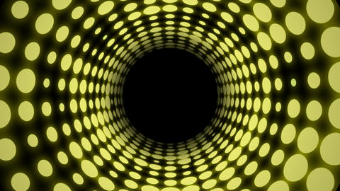Disco Light Tunnel w/ Color (25fps) Stock Video Footage
