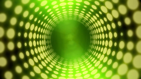 Disco Light Tunnel w/ Lens Flares (30fps) Stock Video Footage