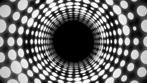 Disco Light Tunnel (25fps) Stock Video Footage