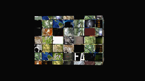 Cube rotating wideowall Stock Video Footage