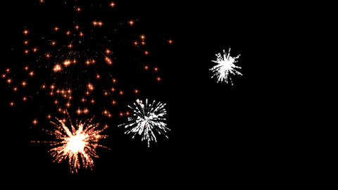 nice fireworks Stock Video Footage