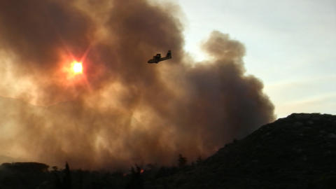 Forest fire - MA 2007waldbrand08 Stock Video Footage