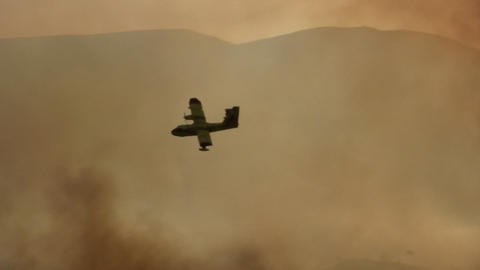 Forest fire - MA 2007waldbrand10 Stock Video Footage