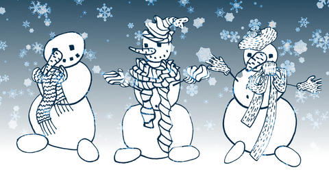 Snowman Stock Video Footage