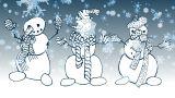 Snowman stock footage