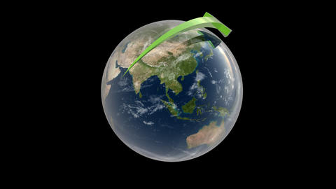 Earth with Orbiting Arrows Animation