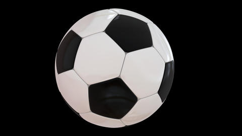 Rotating Football Stock Video Footage