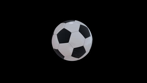 Bouncing Soccer Ball Stock Video Footage