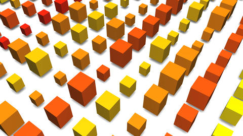 3D cube pop image Animation
