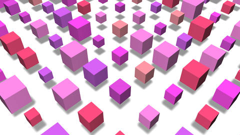 3D cube pop image Stock Video Footage