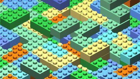 3D block Image Animation