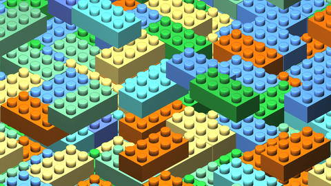 3D block Image Stock Video Footage