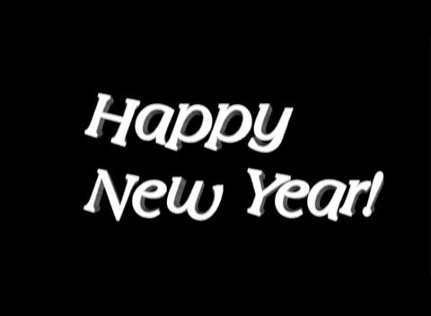 Happy New Year, 3-D Stone Stock Video Footage