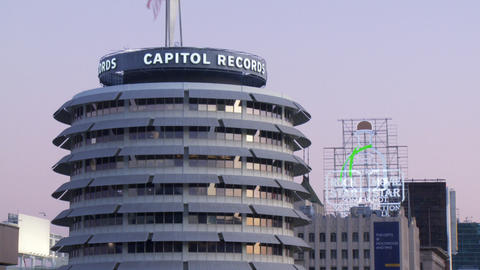 Capitol Records 01 (Time Lapse) Stock Video Footage