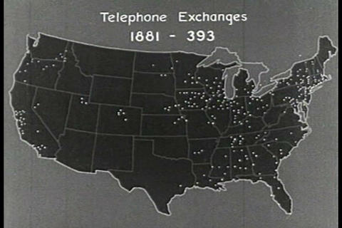 A reenactment of the use of a telephone in 1878 Footage