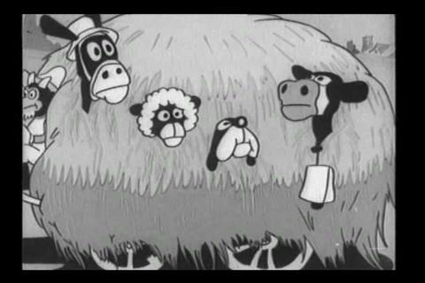 1933 Betty Boop cartoon featuring life on the farm Footage