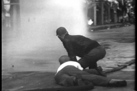 Firemen compete in exciting contests in 1930 Live Action