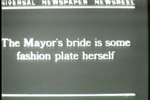 Jimmy Walker, mayor of New York City , married in  Live Action