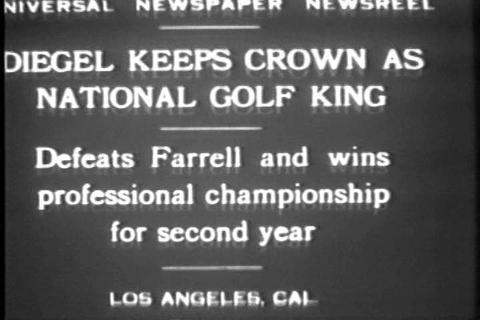 Leo Diegel wins golf championship for second strai Stock Video Footage